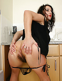 una madura peluda